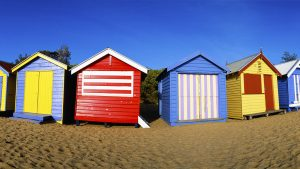 Brighton Beach Boxes, Melbourne, Australia. A Limited Edition Fine Art Landscape Photograph by Richard Hume