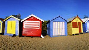 Brighton Beach Boxes, Melbourne, Australia. A Limited Edition Fine Art Landscape Photograph by Richard Hume