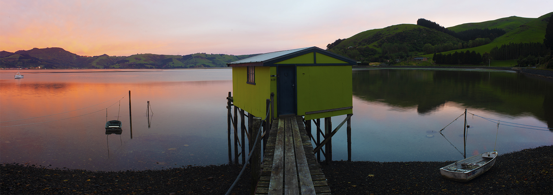 Tranquil Morning, Otago Peninsula, New Zealand. A Limited Edition Fine Art Landscape Photograph by Richard Hume
