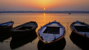 River Ganges Dawn, Varanasi, India. A Limited Edition Fine Art Landscape Photograph by Richard Hume