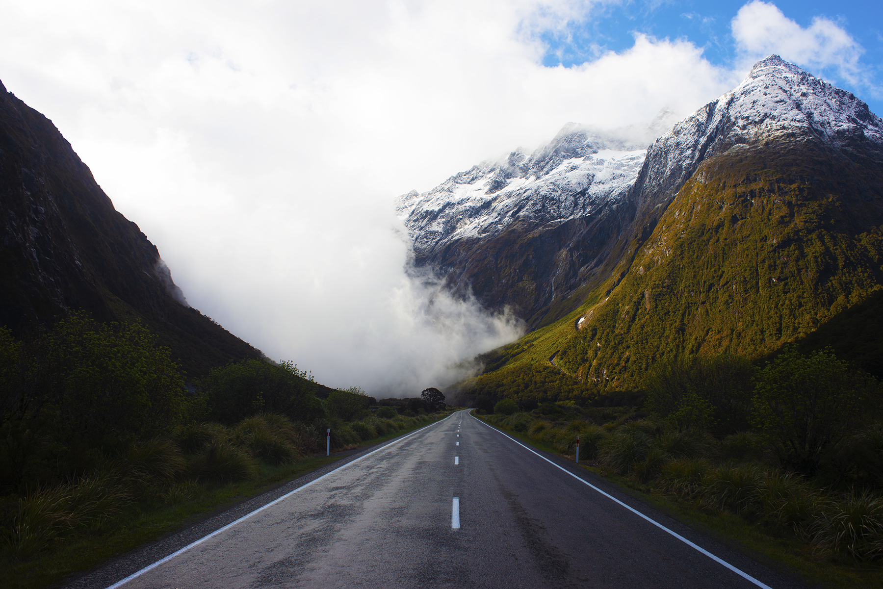 Milford Road, Fiordland, New Zealand. A Limited Edition Fine Art Landscape Photograph by Richard Hume