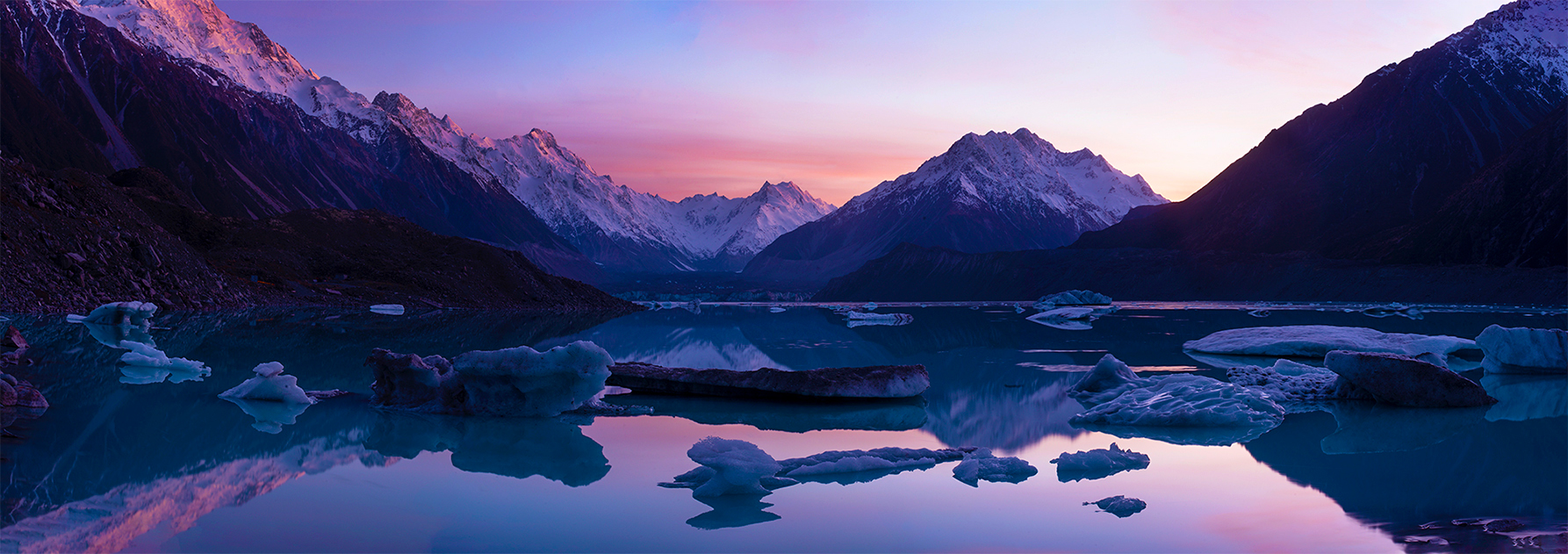 Tasman Lake, New Zealand. A Limited Edition Fine Art Landscape photograph by Richard Hume